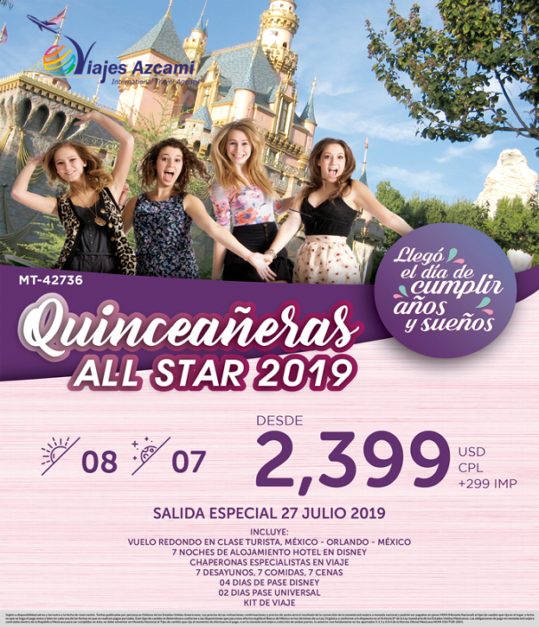 QUINCEAÑERAS ALL STAR 2019